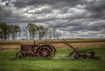Lawn Tractor Art Print