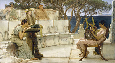 Sappho And Alcaeus Painting - Sappho And Alcaeus by Lawrence Alma-Tadema