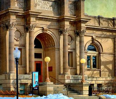Lawrence City Library Art Print