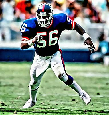 Lawrence Painting - Lawrence Taylor by Florian Rodarte