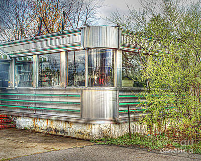 Lawrenceville Diner Art Print by Louise Reeves