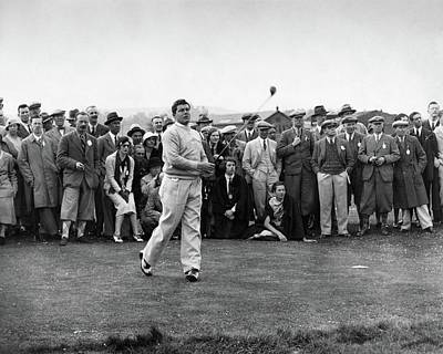 Young Man Photograph - Lawson Little Holding A Golf Club by International News Photos