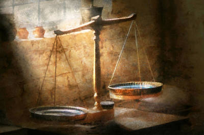 Lawyer - Scale - Balanced Law Art Print by Mike Savad
