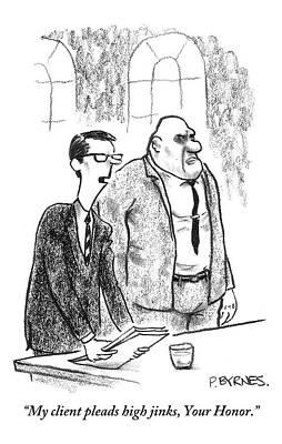 Lawyer Shuffles Papers In From Of Courtoom Art Print by Pat Byrnes