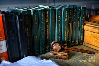 Law Books Photograph - Lawyer - The Code Of Criminal Justice by Paul Ward