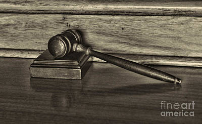 Law Books Photograph - Lawyer - The Gavel by Paul Ward