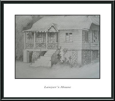 Abandoned House Drawing - Lawyer's House by Jerome Perrin