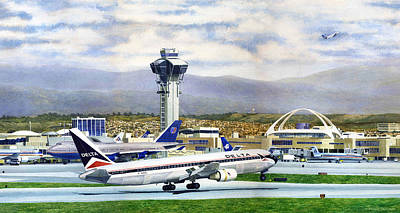 Painting - LAX by Douglas Castleman