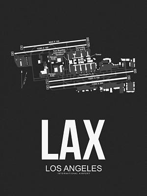 Los Angeles Digital Art - Lax Los Angeles Airport Poster 3 by Naxart Studio