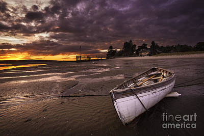Images Of Ocean Canoes Photograph - Lay Low by Charlie Widdis