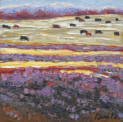 Wall Art - Painting - Layers Of Lavender by Gina Grundemann