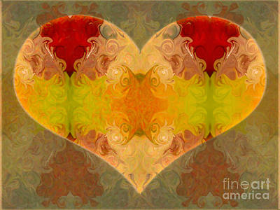 Digital Art - Layers Of Loving Wisdom Abstrat Symbol Artwork By Omaste Witkowski by Omaste Witkowski
