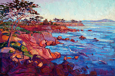 Landscapes Painting - Layers Of Monterey by Erin Hanson