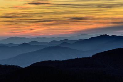 Layers Of The Blue Ridge Mountains Art Print by Serge Skiba