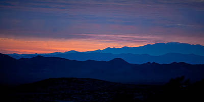 Widescreen Photograph - Layers - The Mojave IIi by Peter Tellone