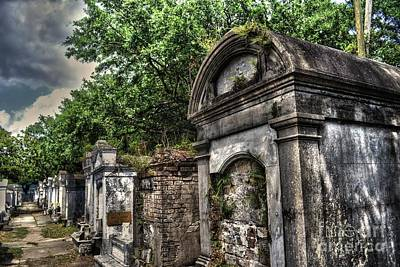 Photograph - Layfayette Cemetery New Orleans by Timothy Lowry