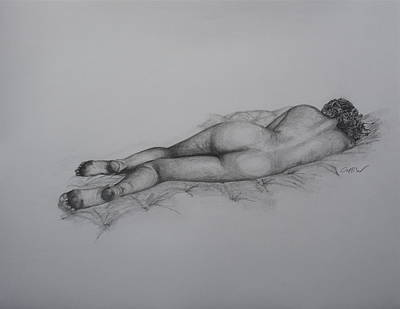 Playboy Bunny Drawing - Laying In Wait by Christian Whalvin