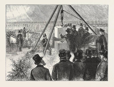 Synagogue Drawing - Laying The Foundation Stone Of The East London Synagogue by English School