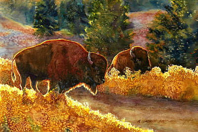 Dakota Painting - Lazy Afternoon Custer State Park Sd by Marguerite Chadwick-Juner
