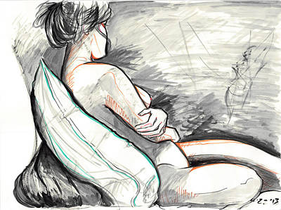 Drawing - Lazy Afternoon by Miguel Karlo Dominado