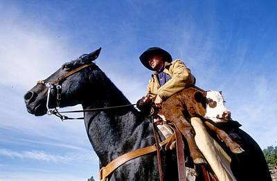 Horse Back Riding Photograph - Lazy C Ranch Cowboy by Adam Sylvester