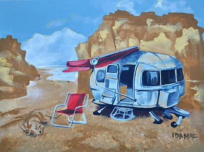 Lazy Dog Painting - Lazy Caravan  by Ida  Mae