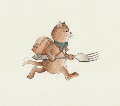 Painting - Lazy Cats07 by Kestutis Kasparavicius