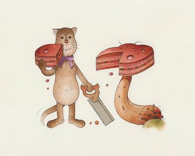 Lazy Cats10 Art Print by Kestutis Kasparavicius