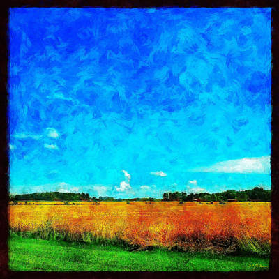 Lazy Clouds In The Summer Sun Art Print