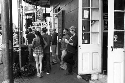 Lazy Day On Bourbon Street Mono Print by John Rizzuto