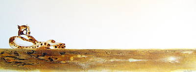 Lazy Dayz Cheetah - Original Artwork Art Print