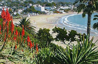 Laguna Beach Mixed Media - Lazy Laguna Day by John Loyd Rushing