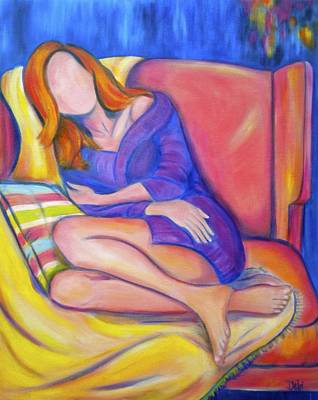 Pople Painting - Lazy Sunday by Debi Starr