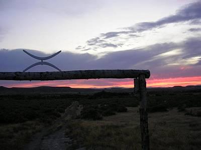 Lazy X Sunset Art Print by Barry Bridges