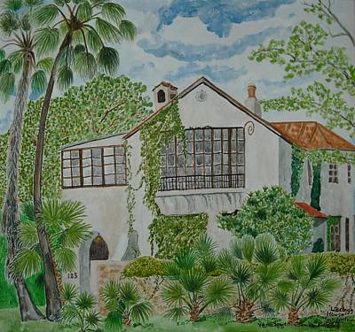 Painting - L.b. Clegg House In San Antonio by Vera  Smith