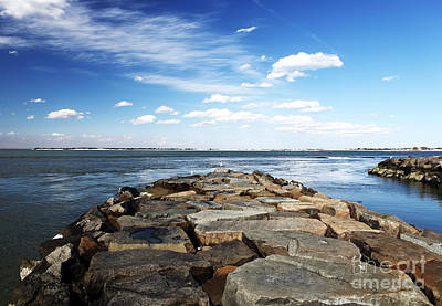 Photograph - Long Beach Island Bay Rocks by John Rizzuto