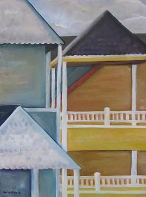 Lbi Rooftops Original by Maria Milazzo