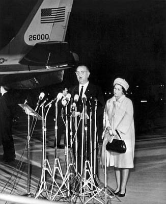 Maryland Photograph - Lbj Is New President by Underwood Archives