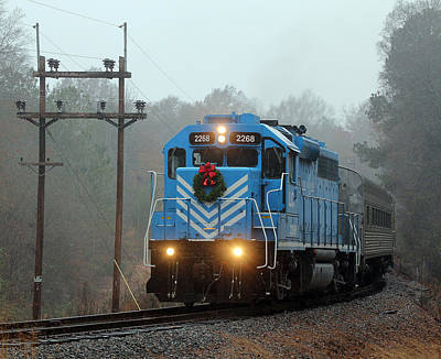 Photograph - Lc Santa Train 2014 B by Joseph C Hinson Photography