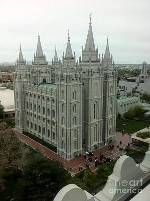 Photograph - Lds Temple Salt Lake  by Susan Garren