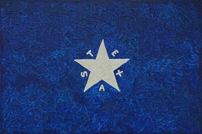 Republic Of Texas Painting - Ldz Flag by Lone Quixote