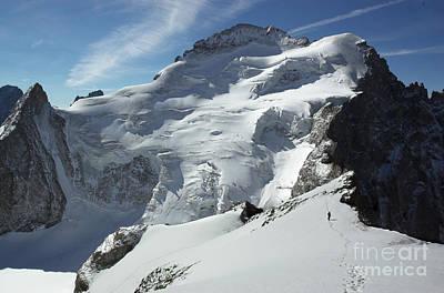 Peak One Photograph - Le Barre Des Ecrins France by Colin Woods