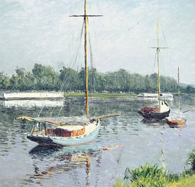 Drifting Painting - Le Bassin D'argenteuil by Gustave Caillebotte