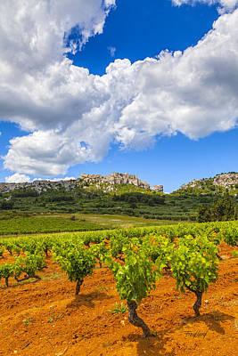 Berthe Photograph - Le Baux De Provence Visualisee De La Vigne De Sainte Berthe by Fred J Lord