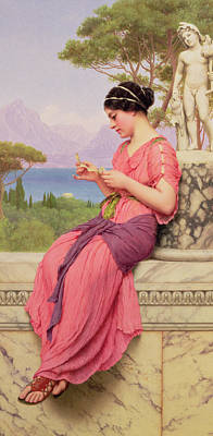 Sandals Painting - Le Billet Doux by John William Godward