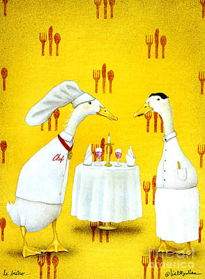 Le Bistro... Art Print by Will Bullas
