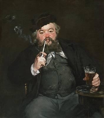 Le Bon Bock Art Print by Edouard Manet