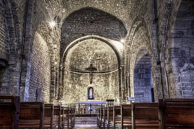 Le Castellet Medieval Church Art Print by Marc Garrido