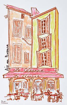 Le Cezanne Cafe, Aix En Provence, France Art Print