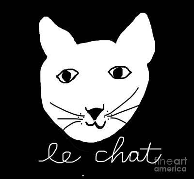 Le Cat Photograph - Le Chat by Linde Townsend